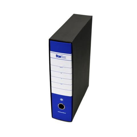 Conf 12 pz REGISTRATORE STARBOX NERO DORSO 8CM F.TO STARLINE